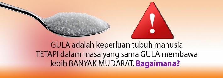 Gula Mudaratkan Kesihatan.