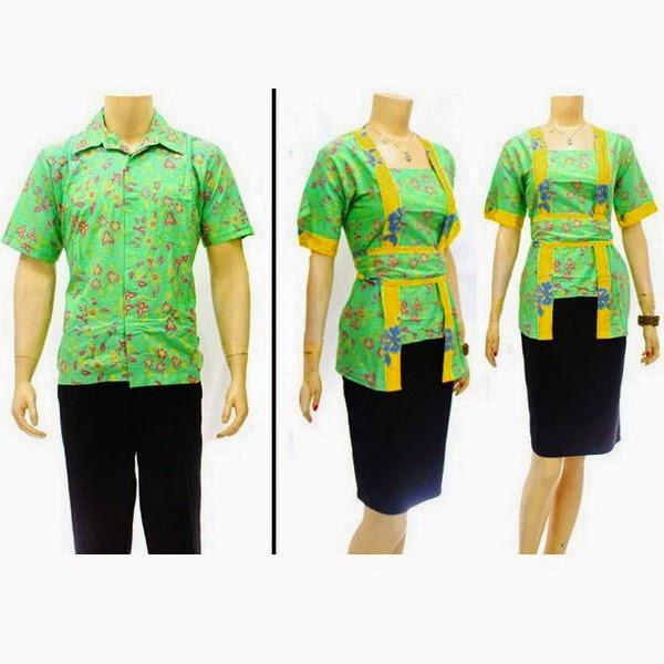 SR742 Grosir Baju Batik pasangan/Couple 2014