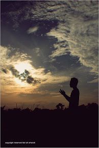 pray while sunrise coming..
