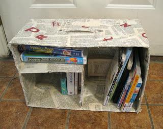 DIY Cardboard Bookshelf