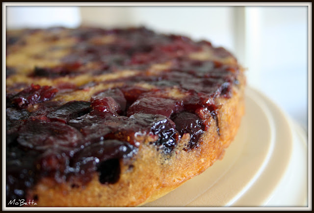 Cherry Cornmeal Upside Down Cake - Makin' it Mo'Betta