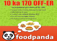 Get FoodPanda Instant Voucher at flat Rs. 170 off :Buytoearn