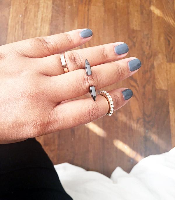 HM midi rings, Charlotte Russe Midi rings, HM midi rings, OPI for Sephora Break a Leg-Warmer!