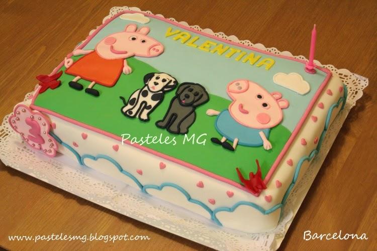 with tarta de cumpleaos infantil