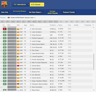 FM14 youth Database New Barcelona Talents added