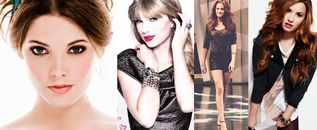 Ashley Greene, Taylor Swift,Kristen Stewart e Demi Lovato