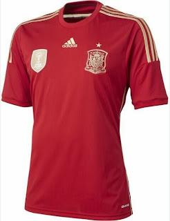 Le maillot de l'Espagne de la Coupe du monde 2014