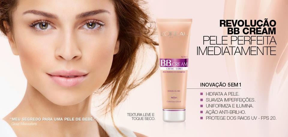 Imagem promocional do BB Cream Loreal Creme Milagroso com Grazi Massafera