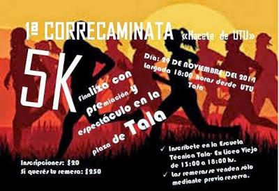 5k Correcaminata UTU de Tala (Canelones, 29/nov/2014)
