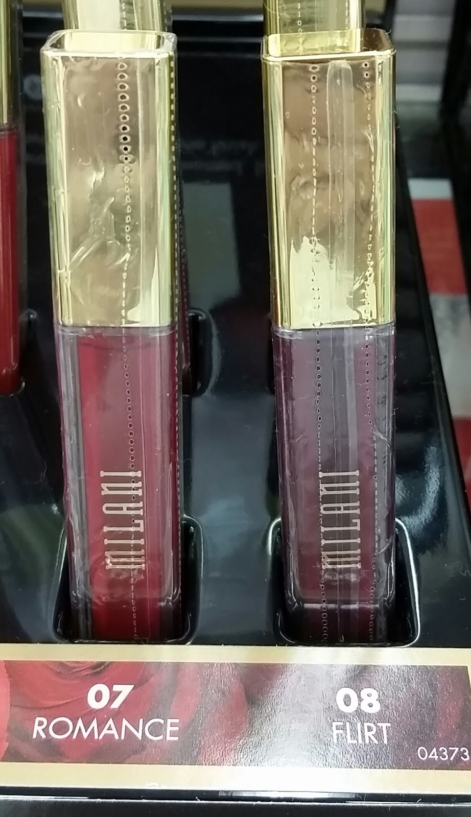 milani amore matte lip creme flirt I went to five walgreens i don't know if that makes me dedicated or insane either way, i got my hands on 3 of the milani matte lip creams the walgreens that i finally found them at had a small display and they had four total left in the entire display.