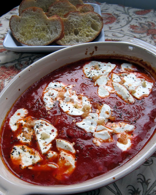 Baked Goat Cheese Marinara - only 2 simple ingredients for a quick and delicious appetizer!
