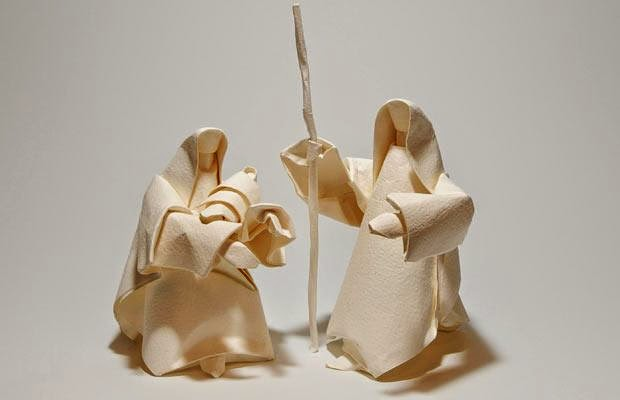 origami nativity