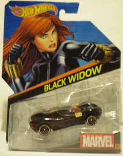 Front of 2014 Hot Wheels Black Widow