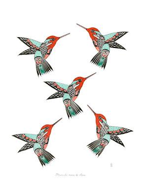 "#0015 Mumuhi manu ke ANNA(Anna's Hummingbird) 22""x28"" Prints @ $100.00"