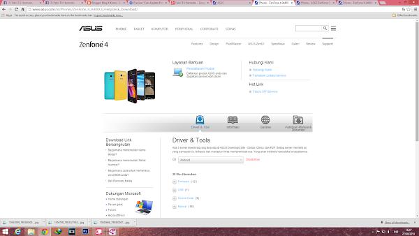 update firmware Zenfone manual