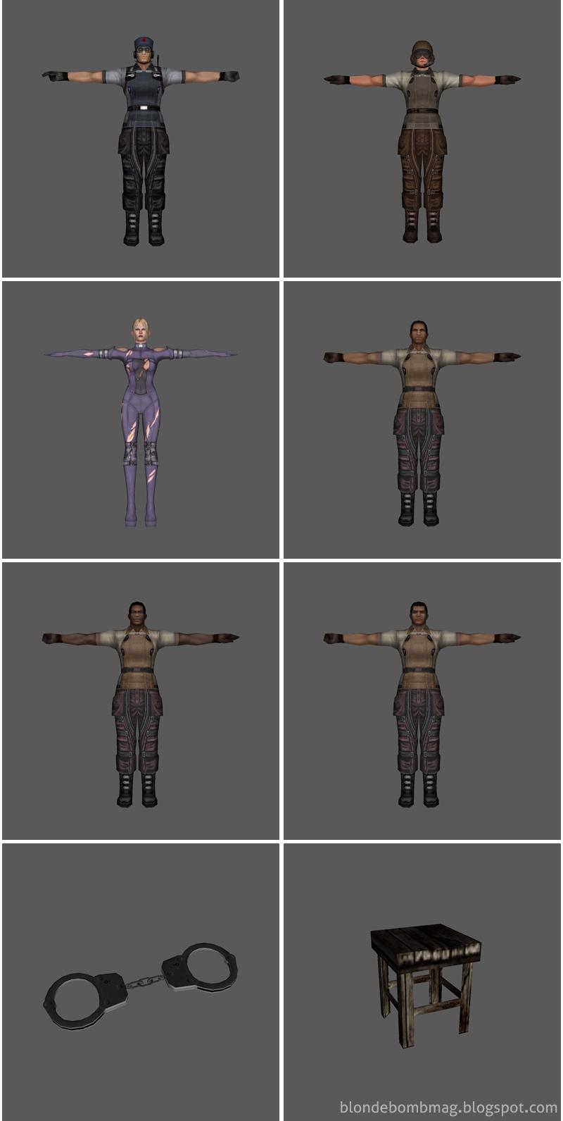 Tekken Nina Death by Degrees 3D Model