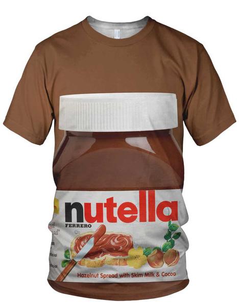 nutella print tshirt