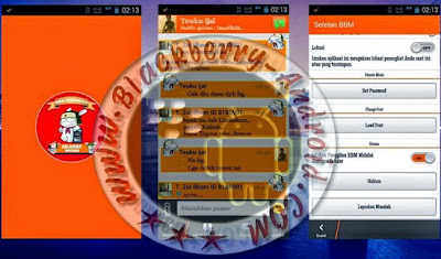 Free BBM Mod Tema MIUI Orange With Floating Menu v2.8.0.21