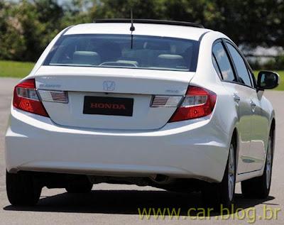 Novo Honda Civic 2012 - traseira