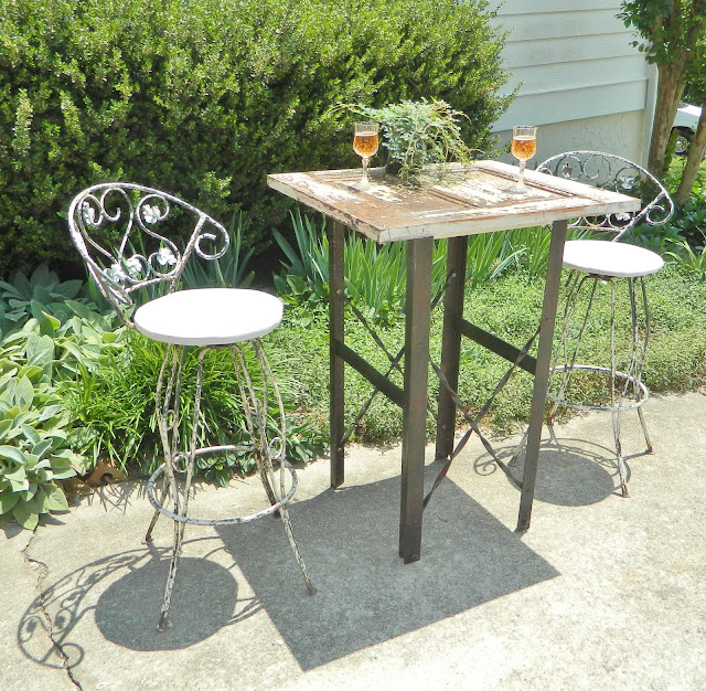 repurposed cocktail table