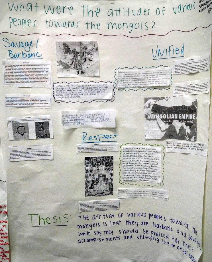 ap world history dbq mongols Sample dbq paragraph prompt: using the documents provided and your  knowledge of world history, analyze the effects of mongol rule on eurasia during  the.