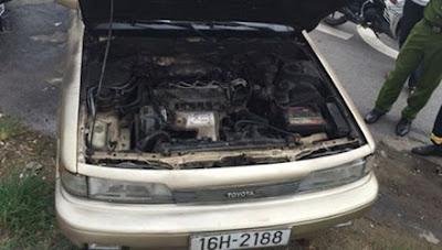 Thiết bị chữa cháy - CSGT lao đầu vào ô tô bốc cháy cứu 3 người