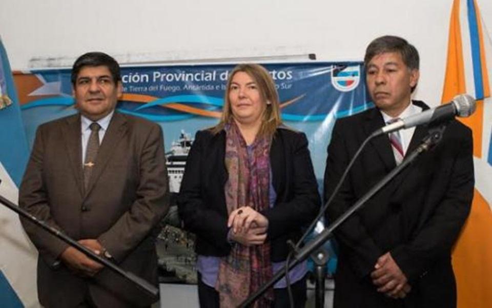 Juro Lagraña como Presidente de Puertos