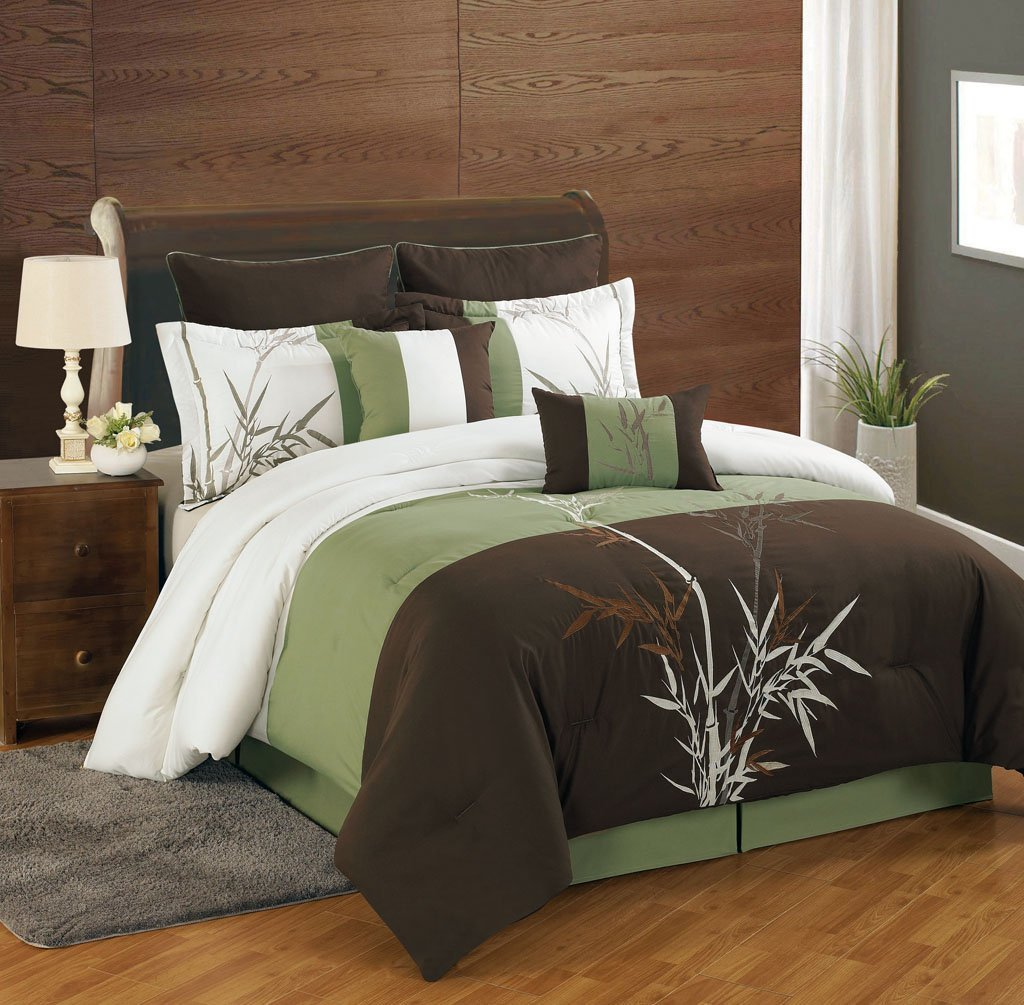 Olive green bedding sets green serene on a budget - Bedroom sheets and comforter sets ...