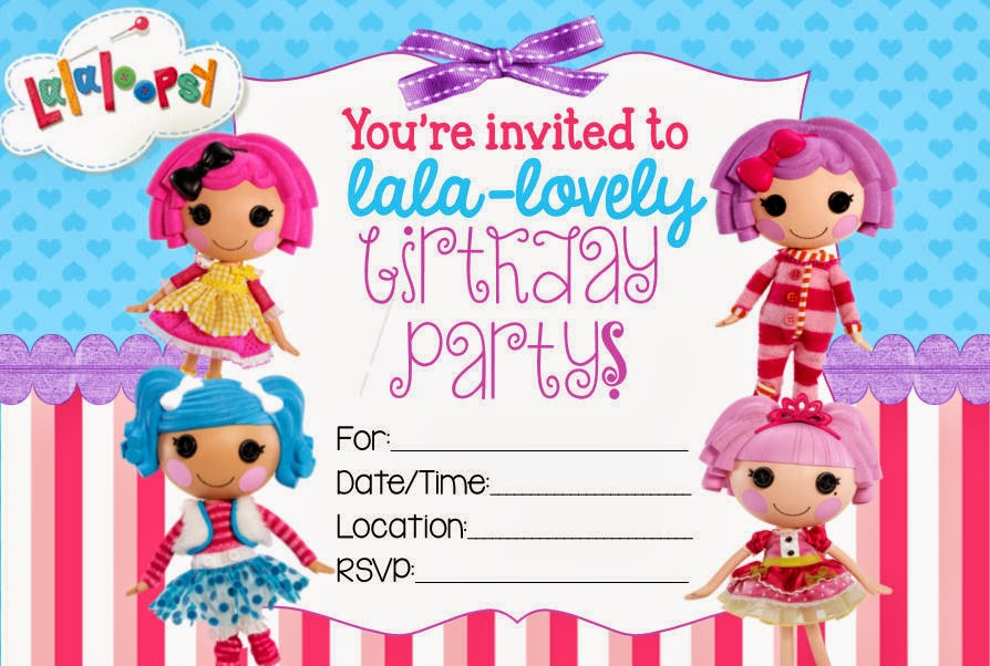 40th Birthday Ideas: Lalaloopsy Birthday Invitation Template Free
