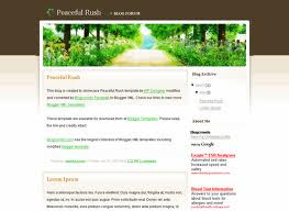 Peaceful Rush Blogger Template