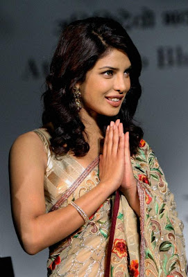 Priyanka Chopra Hot in Saree at National Tourism Pics