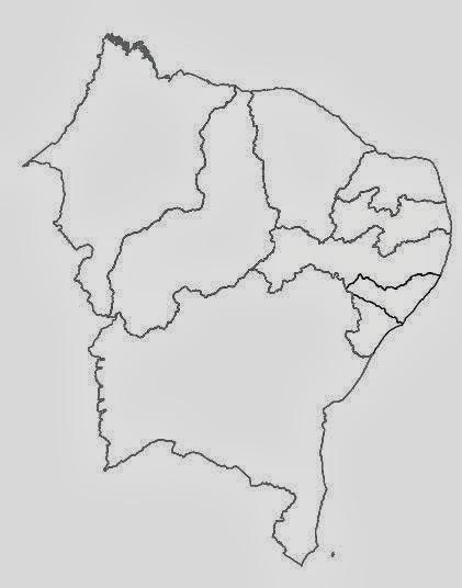 Aparador Wengue Y Plata ~ Blog de Geografia Regi u00e3o Nordeste Brasil Mapa para colorir e pintar