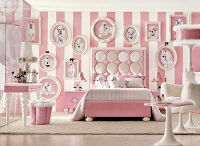 diseño dormitorio niña rosa