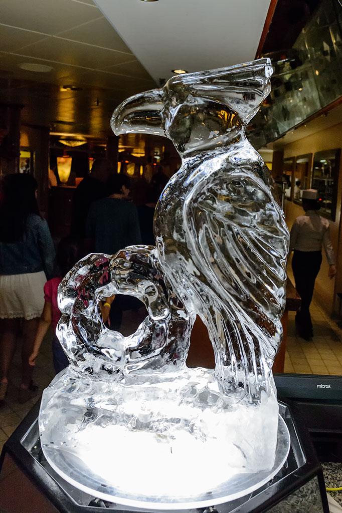 Ice Bird during Chocoholic Buffet on the Norwegian Pearl