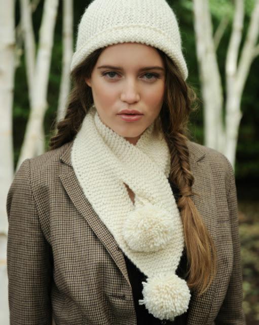 http://www.purlalpacadesigns.com/product/charlie-pompom-scarf-knitting-kit/