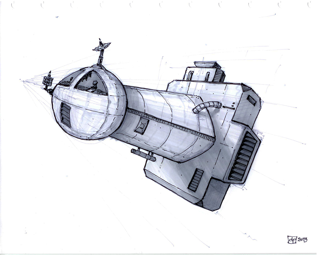 Le blogue des 100 dessins un vaisseau spatial - Dessin vaisseau spatial ...