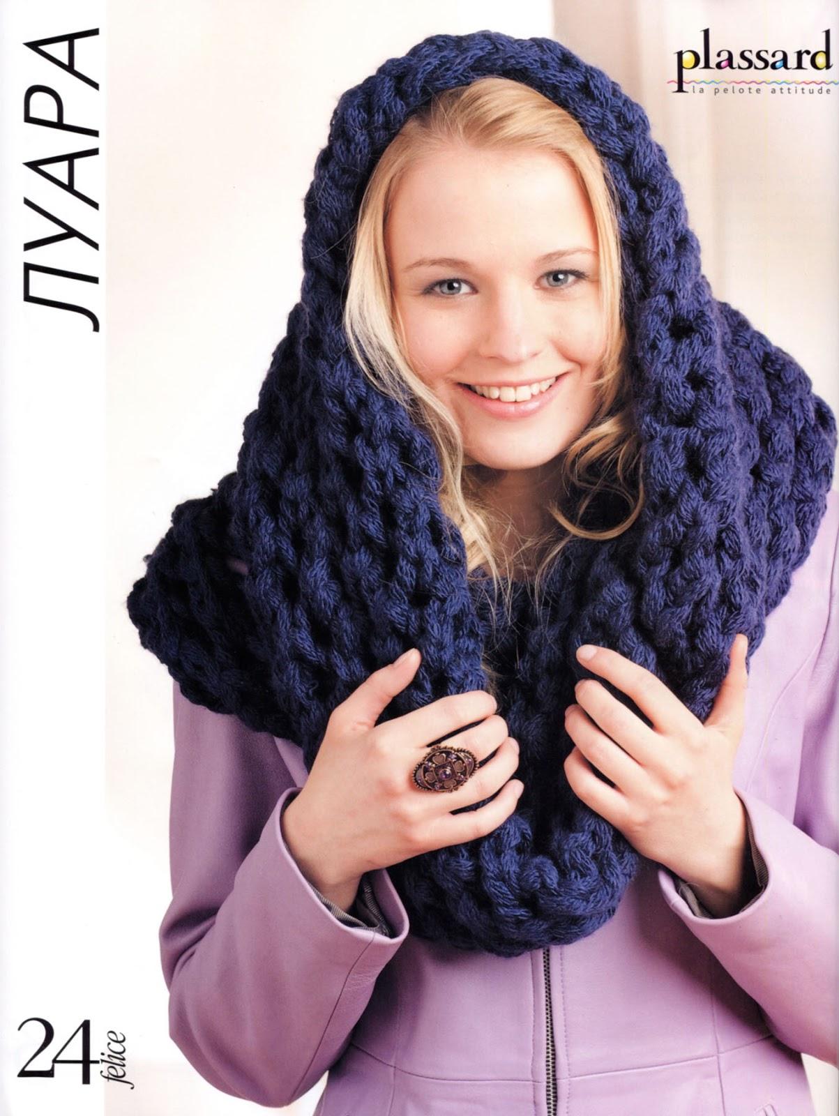 Как связать женский шарф снуд спицами для начинающих 22