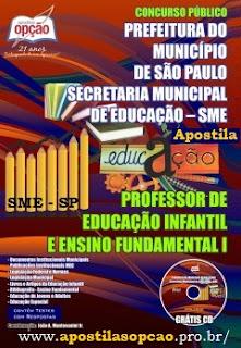 Apostila Prefeitura de SP concurso SMESP Professor.