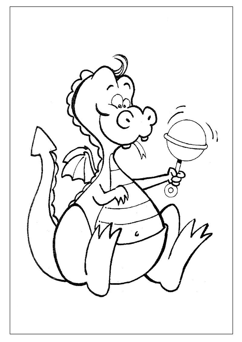 a desenhar As Dragonas Em Apuros colorir