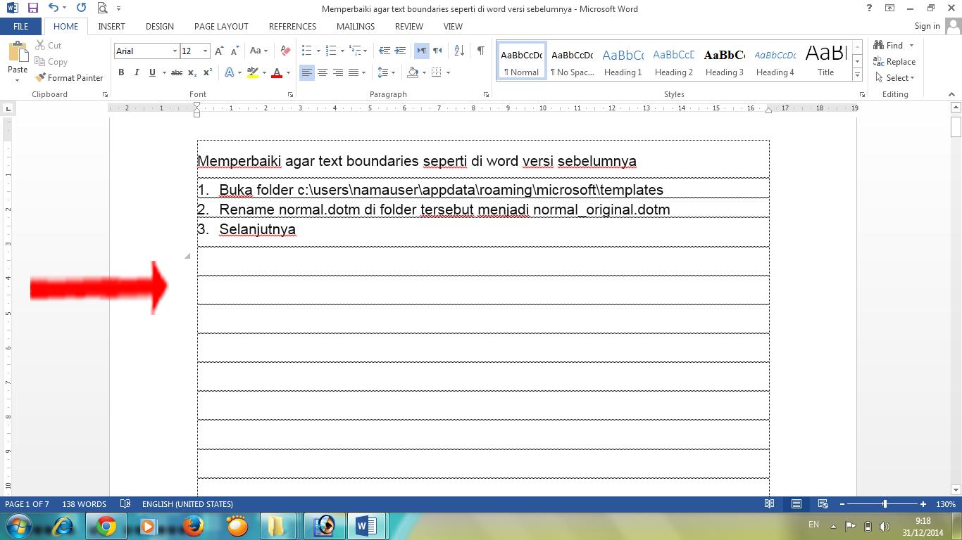 Memperbaiki Texs Boundaries pada Office 2013 Agar Seperti Versi ...