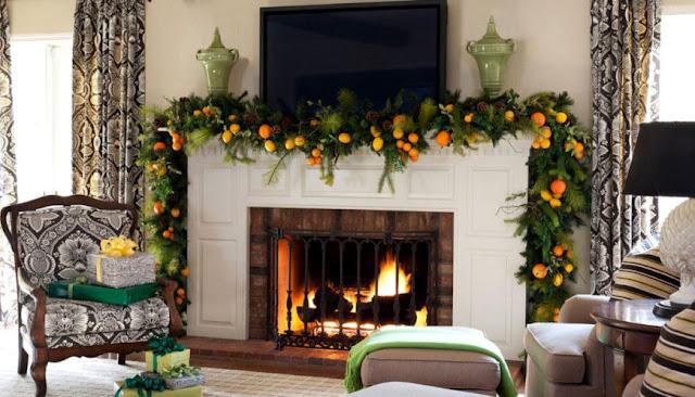 новогодний интерьер гостиной комнаты