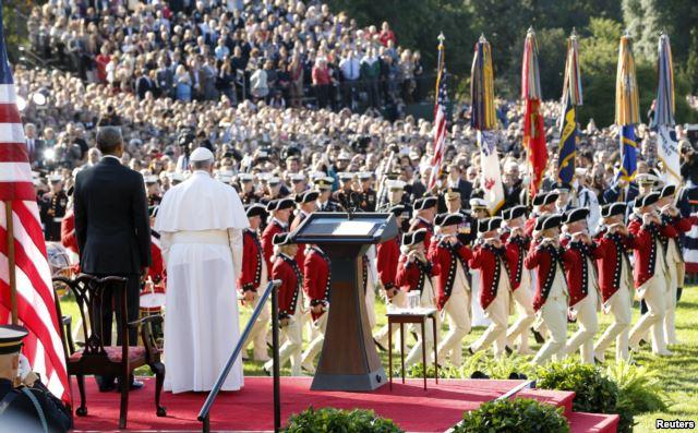 Đức Giáo Hoàng ngỏ lời tại Tòa Bạch Ốc (Mỹ).