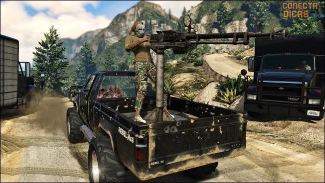 Heists GTA V - Carro novo com metralhadora em cima