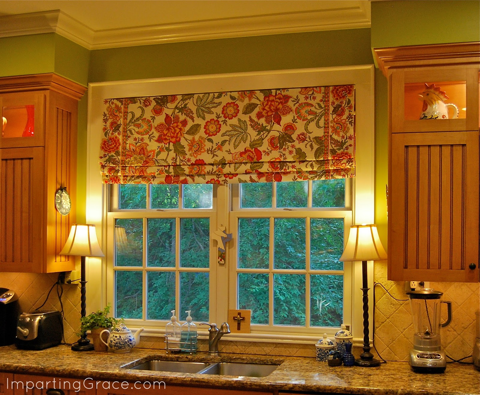 Faux Roman Shades Part - 23: Tutorial For Making A Faux Roman Shade Using Fabric And Tension Rods