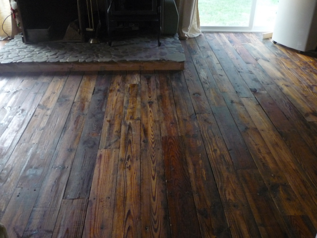 and the living room floor all finished last year - Has Anyone Put Down Oiled Wood Floors?