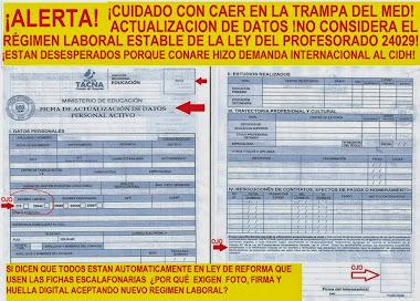 ROTUNDO FRACASO DEL GOBIERNO EN SEUDA EVALUACIÓN DE ASCENSO DE ESCALAS MAGISTERIALES