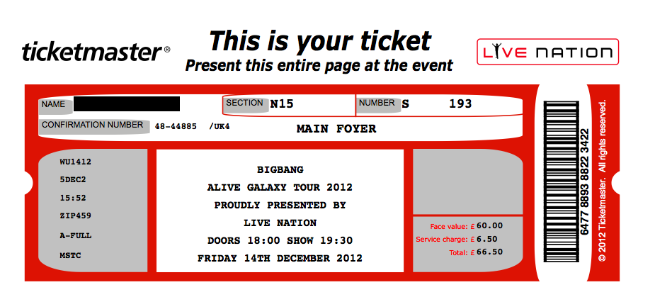 concert ticket template – Tickets Template