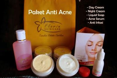 Florin Skin Paket Acne Untuk Perawatan Wajah-Pemutih Wajah-Untuk Mengatasi Jerawat