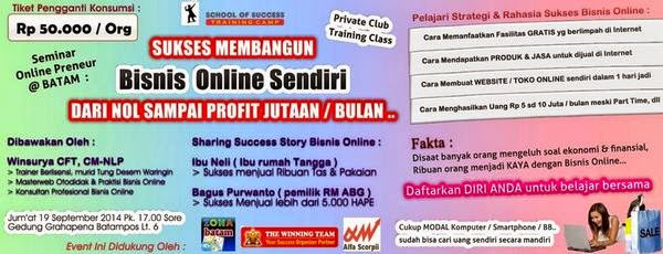 Jumpa Admin Yuk: Sharing Pelatihan OnlinePreneur