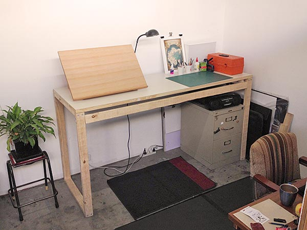 cheap standing height bench for my art studio